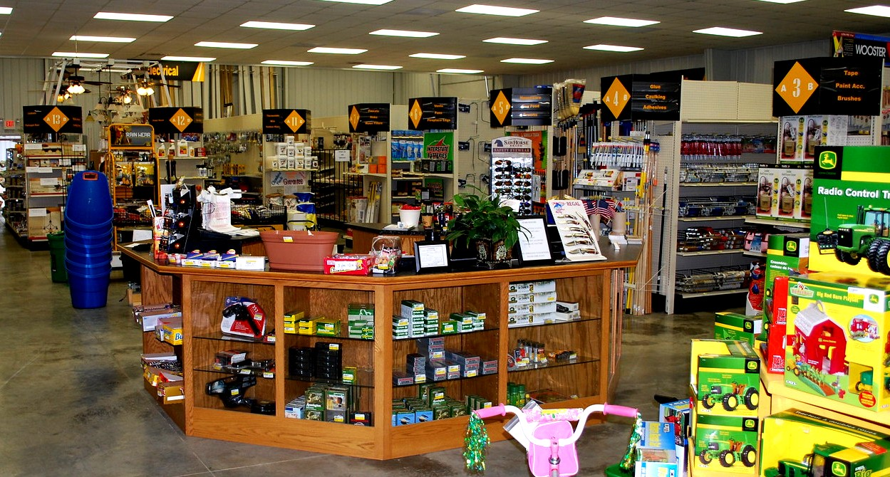 Newly remodeled hardware store with retail focused design